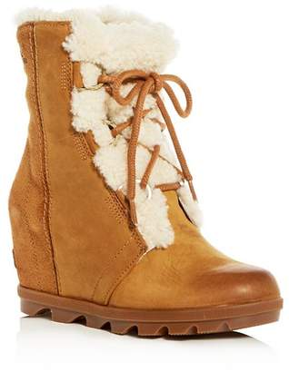 Sorel Women's Joan of Arctic Waterproof Shearling Hidden Wedge Cold-Weather Boots