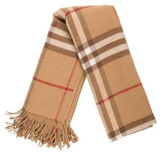 Burberry House Check Wool Shawl
