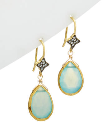 Rachel Reinhardt 14K Over Silver Gemstone Drop Earrings