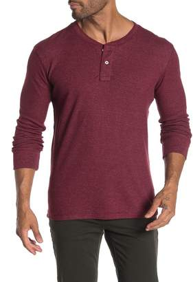 THE NORMAL BRAND Long Sleeve Waffle Knit Henley