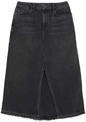 Alexander Wang Frayed Denim Midi Skirt