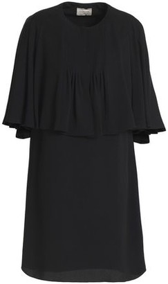Lanvin Cape-Effect Crepe Mini Dress