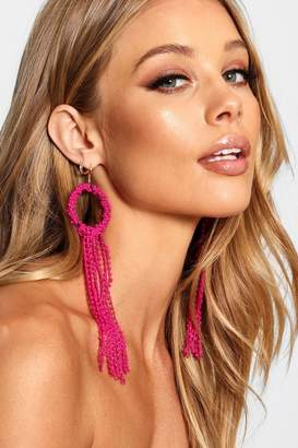 boohoo Statement Long Tassel Earrings