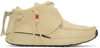 Visvim Off-White FBT Moccasin Sneakers