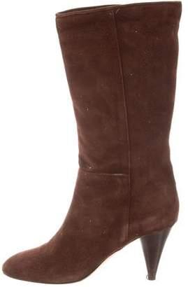 Loeffler Randall Suede Mid-Calf Boots