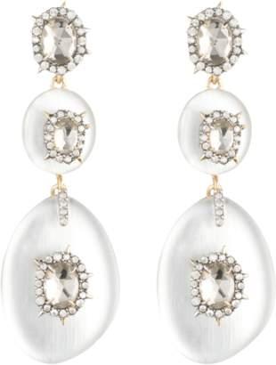 Alexis Bittar Lucite Triple Spike Bezel Post Earrings