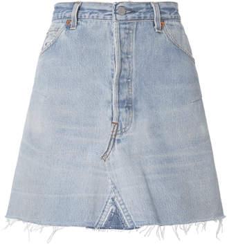 RE/DONE High-Rise Mini Skirt