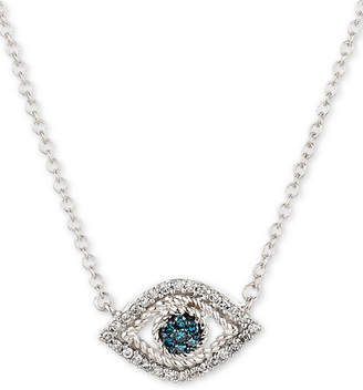 Elsie May Diamond Evil Eye Pendant Necklace (1/10 ct. t.w.) in Sterling Silver