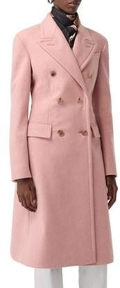 Burberry Double-Breasted Wool Trench Coat