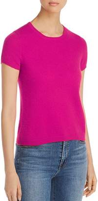 Bloomingdale's C by Short-Sleeve Cashmere Sweater - 100% Exclusive