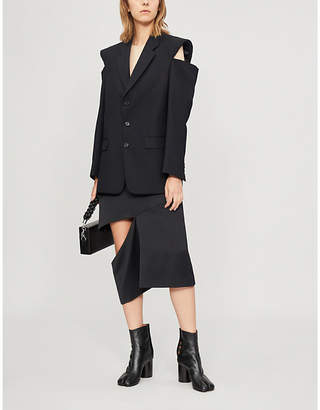 Maison Margiela Slit-sleeve wool jacket