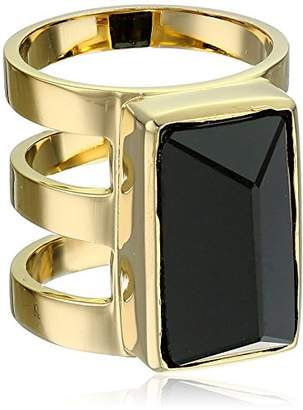 Paige Novick PHUN by Isabelle Collection Stone Inset Clear Three Row Ring
