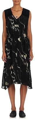 Pas De Calais Women's Embellished Abstract-Print Chiffon Midi-Dress