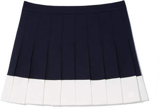 Tory Sport Color-Block Pleated Tennis Skirt