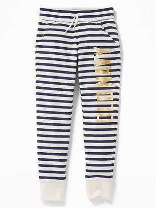 Old Navy Relaxed Logo-Graphic Joggers for Girls