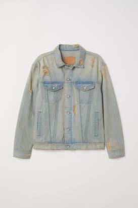 H&M Distressed Denim Jacket - Blue