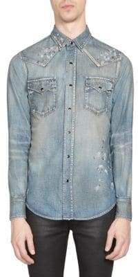 Saint Laurent Painted Denim Shirt