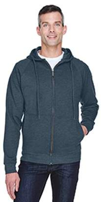 ULTRACLUB UltraClub Adult Rugged Wear Thermal-Lined Full-Zip Hooded Fleece - DRK HEATHER GRAY - XL 8463