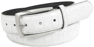 Stacy Adams Ozzie 34mm Croc Embossed Leather Belt