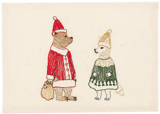 Coral & Tusk Claus Embroidered Stationery