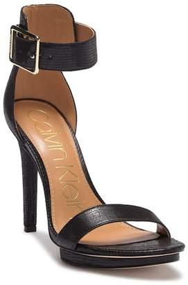Calvin Klein Vivian Tejus Lizard Heel Sandal
