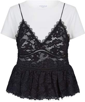 Claudie Pierlot Dual Layer Cami and T-Shirt