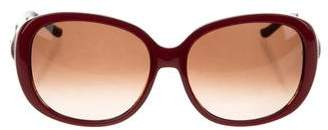 Judith Leiber Embellished Oversize Sunglasses