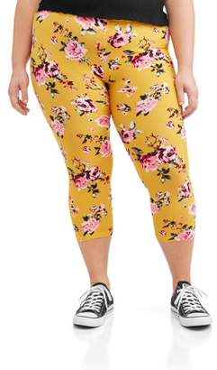 89306e7fc99 Eye Candy Juniors  Plus Size Printed Capri Leggings