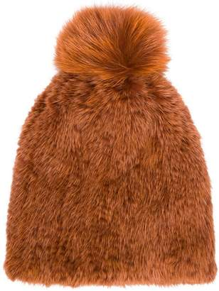 Yves Salomon Accessories knitted pom pom beanie