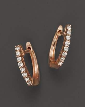 Bloomingdale's Diamond Huggie Hoop Earrings in 14K Rose Gold, .15 ct. t.w.