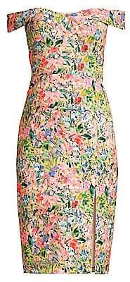Aidan Mattox Women's Floral Crepe Cocktail Dress
