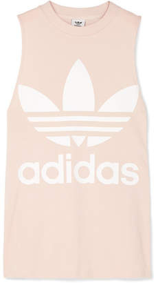 adidas Trefoil Printed Cotton-jersey Tank - Blush