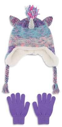 Capelli Girls' Unicorn Hat & Gloves Set - Little Kid, Big Kid