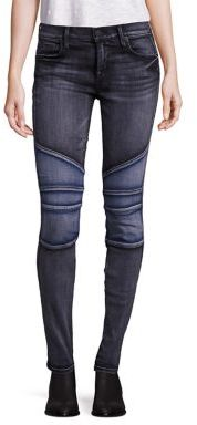 True Religion Halle Super Skinny Moto Jeans $239 thestylecure.com
