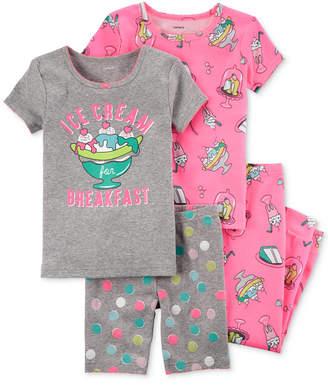 Carter's 4-Pc. Ice Cream-Print Cotton Pajama Set, Baby Girls