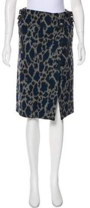 Sacai Luck Animal Print Wool Skirt w/ Tags