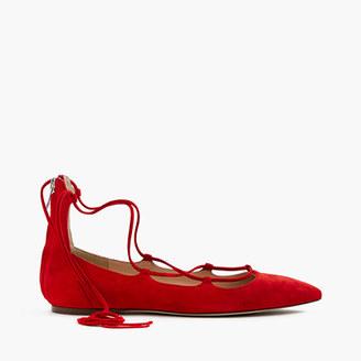 Suede lace-up flats $168 thestylecure.com