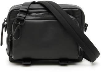 5ab585920 Prada Leather Messenger Bag - ShopStyle
