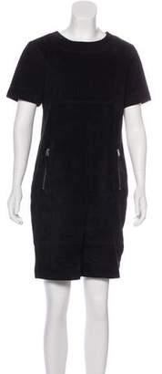 Neiman Marcus Suede Mini Dress