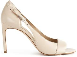 Reiss ELLEN CUT OUT DETAIL OPEN TOE SANDALS Clay