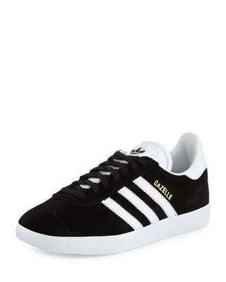 Adidas Gazelle Original Suede Sneaker, Black/White $80 thestylecure.com