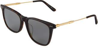 Bottega Veneta Square Acetate/Metal Sunglasses