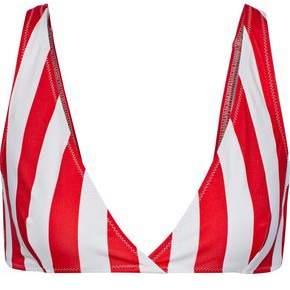The Beverly Striped Bikini Top