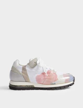 Acne Studios Joriko Flower Print Sneakers in Flower Print Nylon