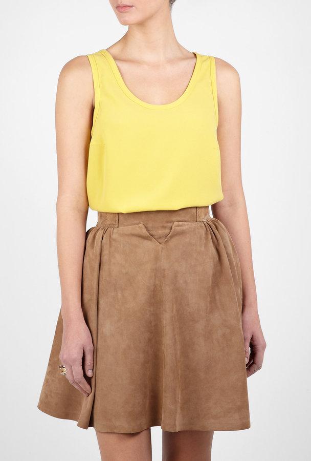Joseph Yellow Deborah Silk Vest