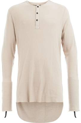 Cedric Jacquemyn high low henley tee