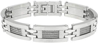 JCPenney FINE JEWELRY Mens Stainless Steel Cable Link Bracelet