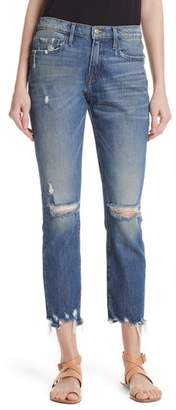 Frame Le Boy Ripped Jeans