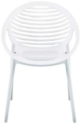Euro Style Lima Arm Chair, White Polypropylene