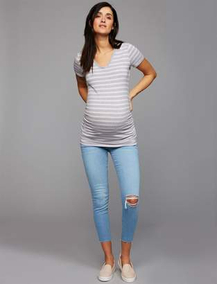Luxe Essentials Denim Under Belly Addison Skinny Ankle Maternity Jeans